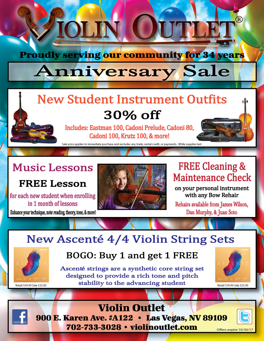 Violin Outlet's Anniversary Sale 2017