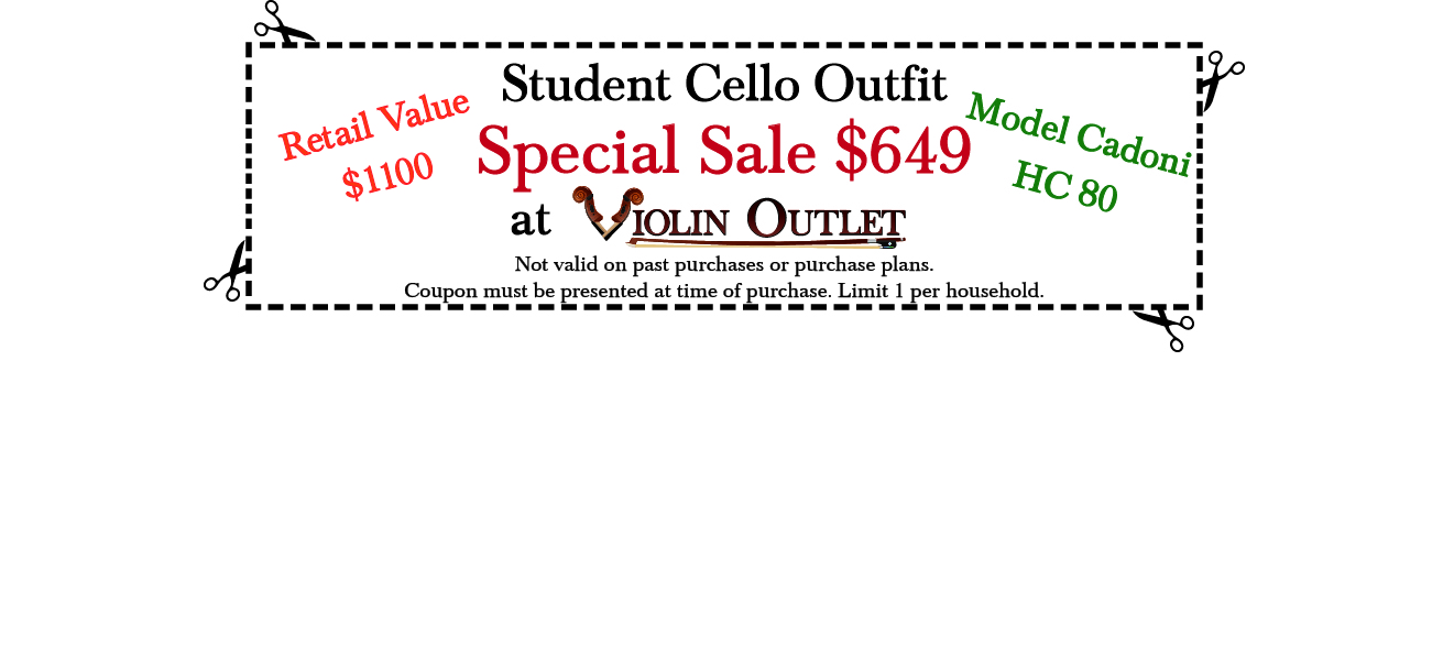 Cadoni Cello Outfit Sale