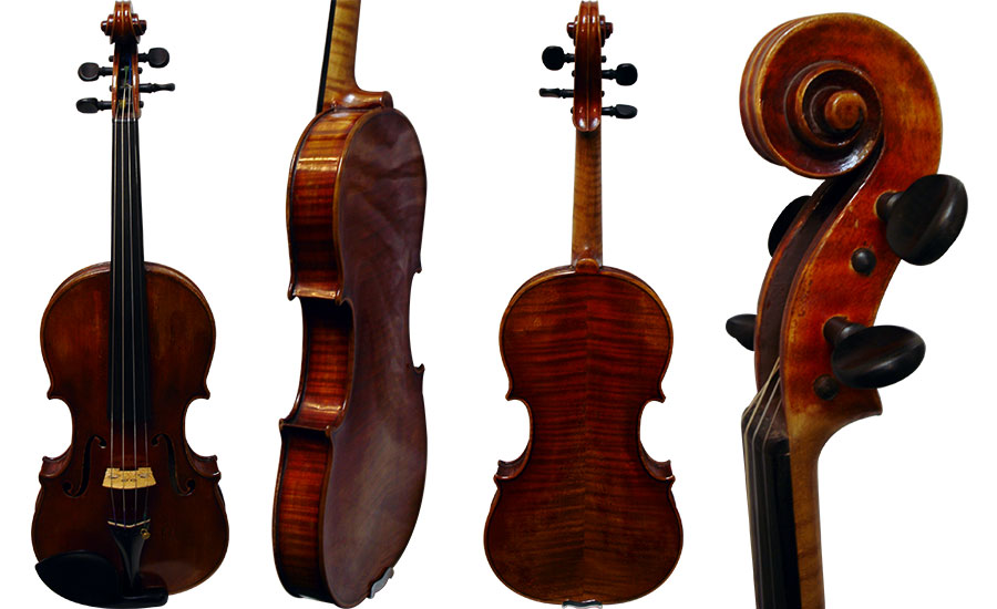 Violin labeled Heinrich Heberlein 1921
