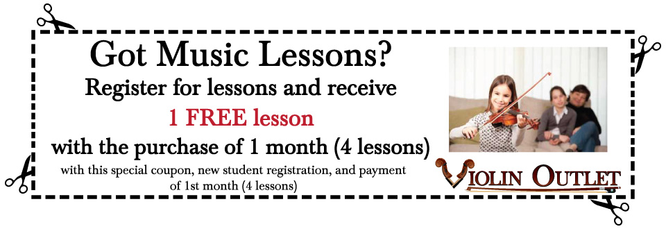 Music Lesson Coupon