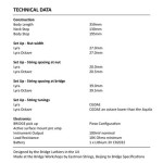 Bridge Lyra Electric Violin Technical Specs