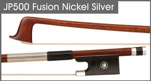 JonPaul Fusion Nickel-Silver Bass Bow (violin Pictured)