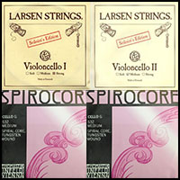 Larsen Spirocore Tungsten Cello String Combo Set