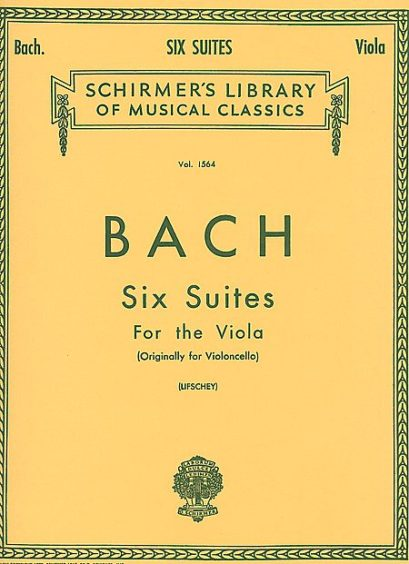 Bach 6 Suites for Viola – Schirmer Ed.