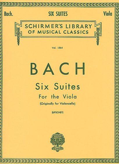 Bach 6 Suites for Viola – Schirmer Ed.