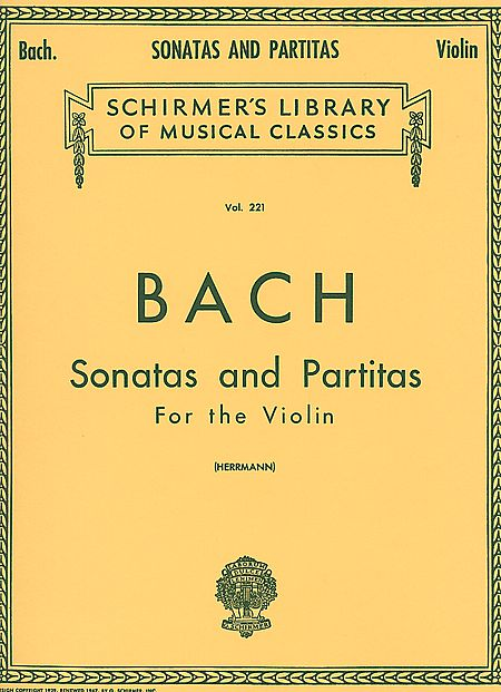 Bach Six Sonatas and Partitas for Violin – Schirmer ed.