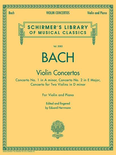 Bach Violin Concertos – Schirmer ed.