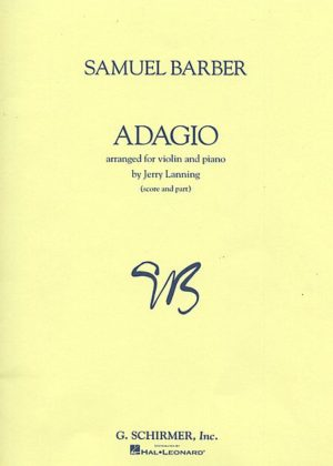 Barber Adagio For Violin– Schirmer ed.