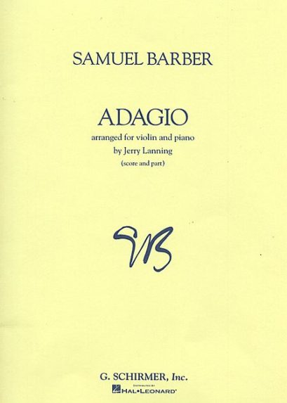 Barber Adagio For Violin – Schirmer ed.