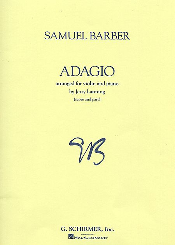 Barber Adagio For Violin– Schirmer ed.