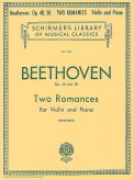 Beethoven 2 Romances for Violin - Shirmer ed.