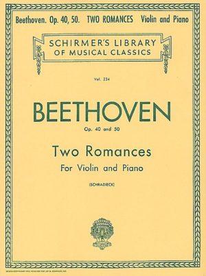 Beethoven 2 Romances for Violin - Shirmer ed.
