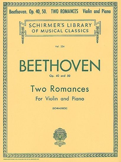 Beethoven 2 Romances for Violin – Shirmer ed.