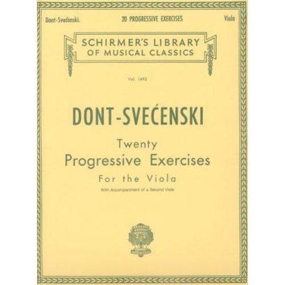 Dont 20 Progressive Exercises for Viola – Schirmer Ed.