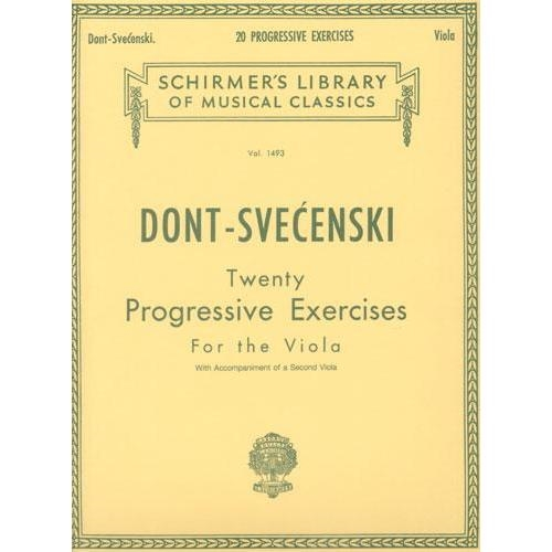 Dont 20 Progressive Exercises for Viola