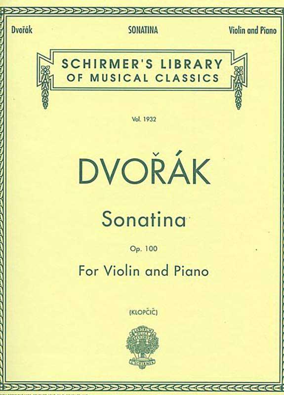 Dvorak Sonatina For Violin – Schirmer ed.