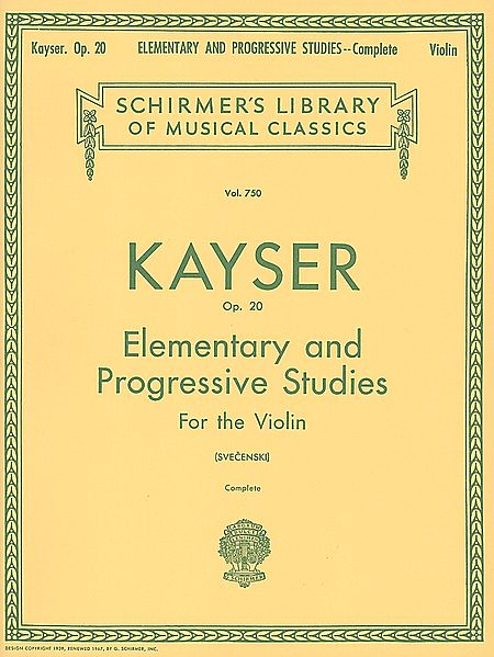 Kayser 36 Elementary and Progressive Studies for Violin Complete
