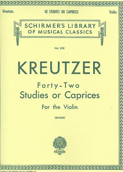 Kreutzer 42 Studies or Caprices for Violin - Schirmer Ed.
