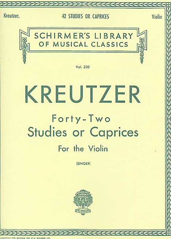 Kreutzer 42 Studies or Caprices for Violin - Schirmer Ed.
