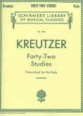 Kreutzer 42 Studies Transcribed for Viola
