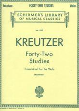 Kreutzer 42 Studies Transcribed for Viola