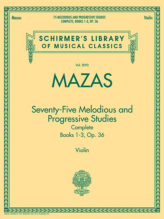 Mazas 75 Melodious and Progressive Studies Complete for Violin