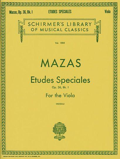 Mazas Etudes Speciales for Viola Op. 36 Book 1 – Schirmer Ed.