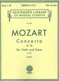 Mozart Concerto No. 3 in G for Violin - Schirmer ed.