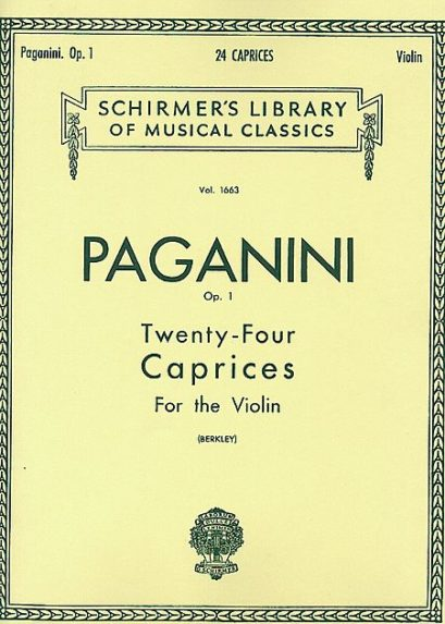 Paganini 24 Caprices for Violin – Schirmer Ed.