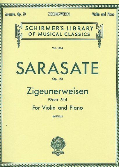 Sarasate Zigeunerweisen for Violin – Schirmer ed.