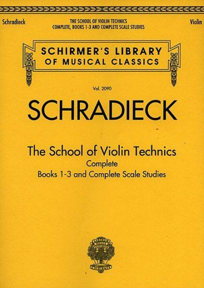 Schradieck School of Violin Technics Complete – Schirmer ed.
