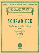 Schradieck School of Violin Technics for Viola