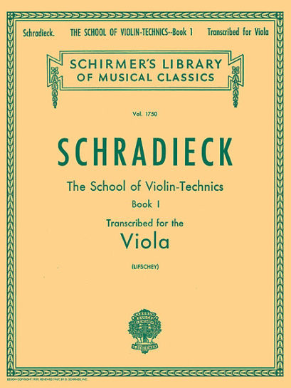 Schradieck School of Violin Technics for Viola Book 1 – Schirmer Ed.