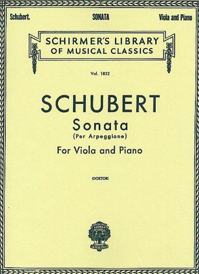 Schubert Sonata per Arpeggione for Viola – Schirmer Ed.