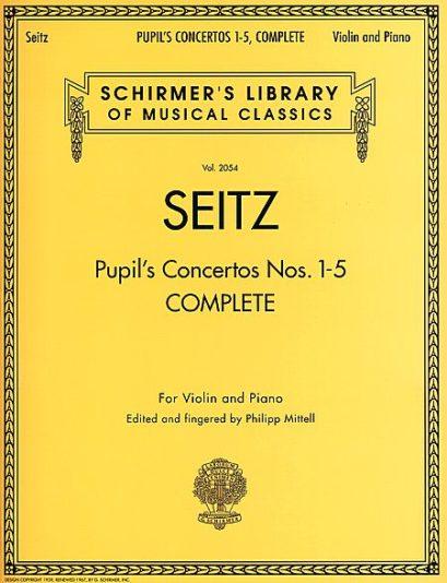 Seitz Pupil's Concertos Complete for Violin – Schirmer ed.