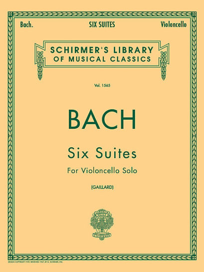 Bach Six Suites for Cello – Schirmer Ed.