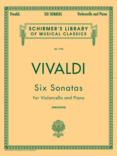 Vivaldi Six Sonatas for Cello – Schirmer Ed.