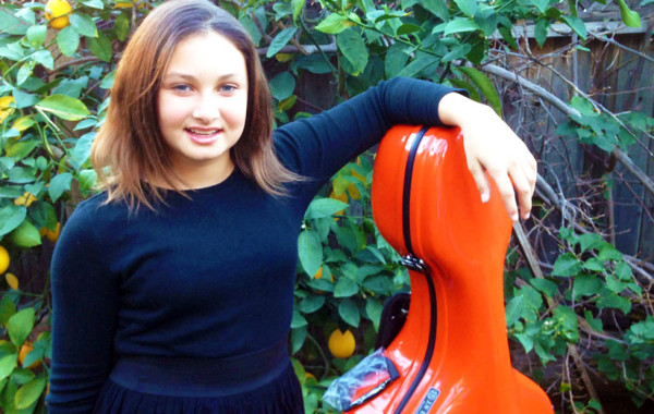 Loving Her New Cello Case