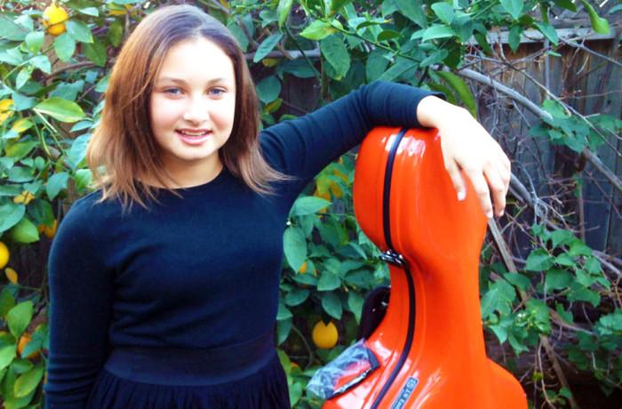 Loving Her New Cello Case