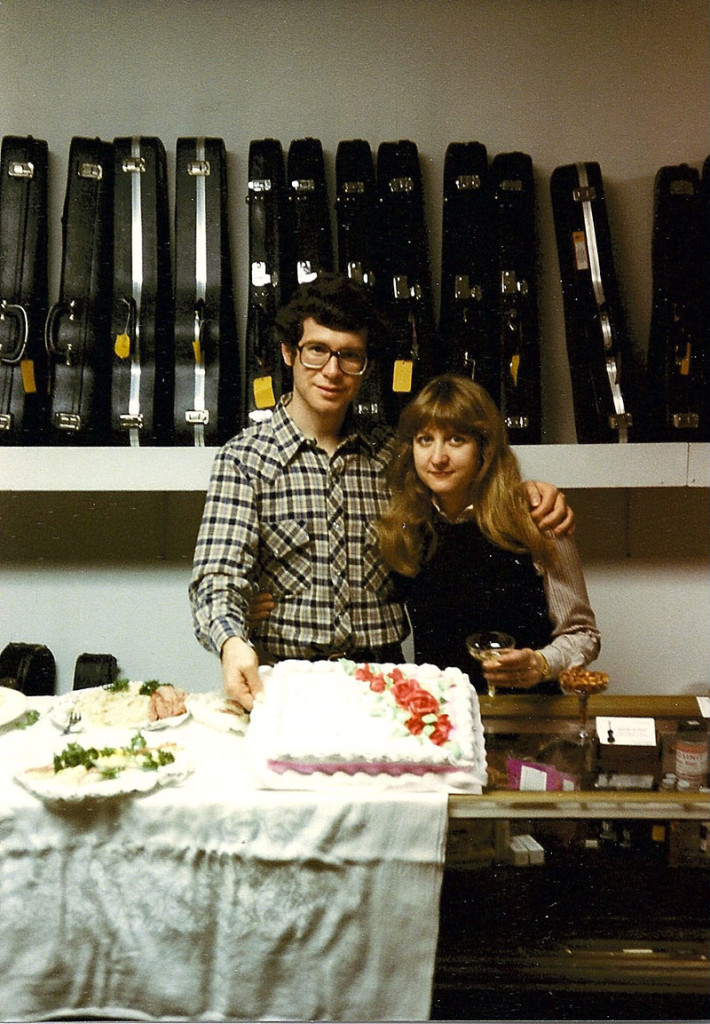 Mara and Gary when Violin Outlet opened in 1983