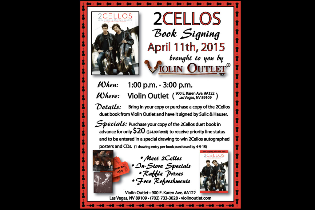 2Cellos Book Signing 4-11-15