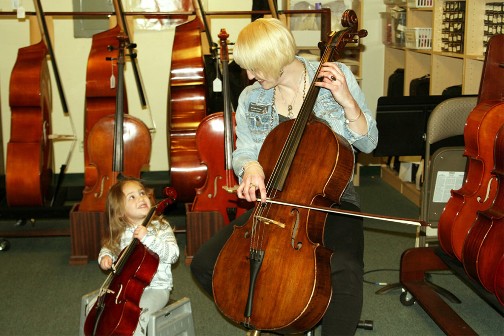 Brenna and a young cellist