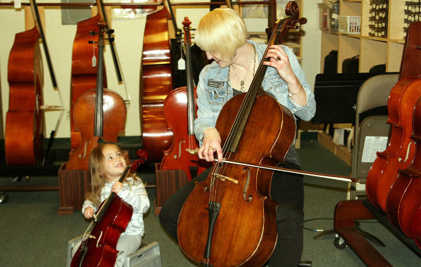 Brenna and Potential Young Cellist