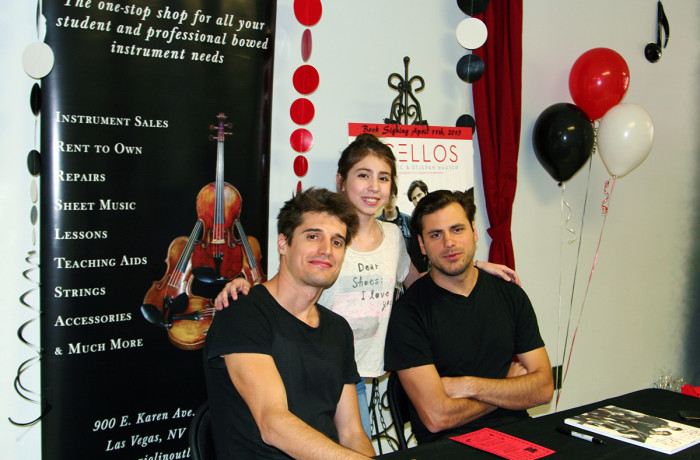 Young Fan Gets to Pose with 2Cellos