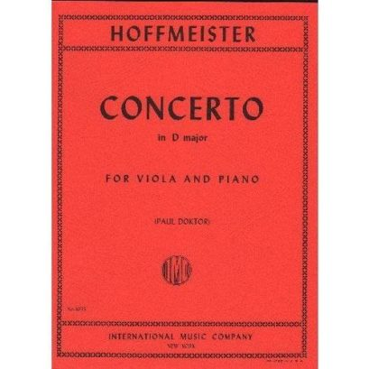 Hoffmeister Concerto in D major for Viola – International Ed.