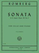 Romberg Sonata in G Major for Cello, Opus 38, No. 2 – International Ed.