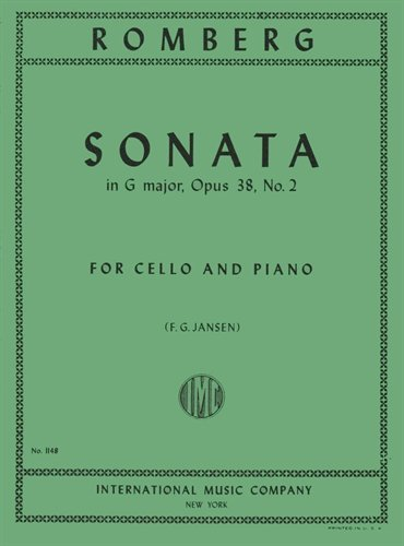 Romberg Sonata in G Major for Cello, Opus 38, No. 2 - International Ed.