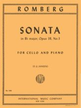 Romberg Sonata in B flat Major for Cello, Opus 38, No. 3 – International Ed.