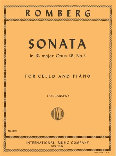Romberg Sonata in B flat Major for Cello, Opus 38, No. 3 - International Ed.
