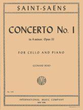 Saint-Saens Concerto No. 1 in A Minor for Cello, Opus 33 - International Ed.
